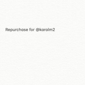 Repurchase for @karalm2